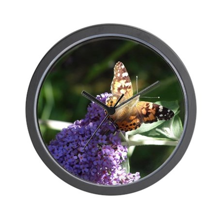 Butterfly Basking in the Light Wall Clock