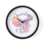 Guanling China Map Wall Clock