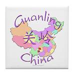 Guanling China Map Tile Coaster