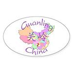 Guanling China Map Oval Sticker (10 pk)