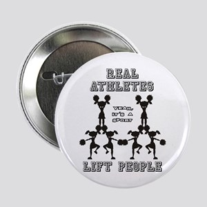 "Athletes - Cheer 2.25"" Button"