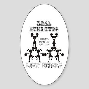 Athletes - Cheer Oval Sticker