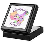 Guiyang China Map Keepsake Box