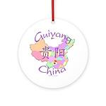 Guiyang China Map Ornament (Round)