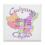 Guiyang China Map Tile Coaster