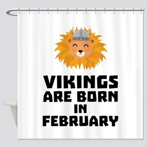 Vikings are born in February C2htp Shower Curtain