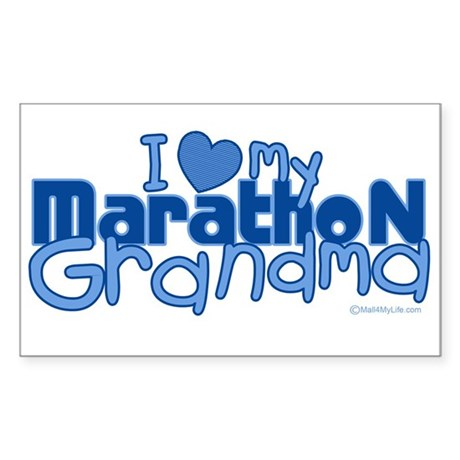 I Love My Marathon Grandma Rectangle Sticker