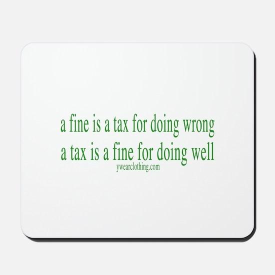 A Fine Tax Mousepad