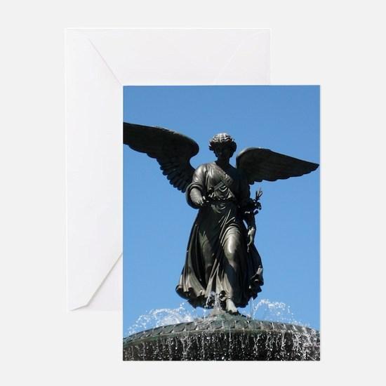 Betheda Fntain Angel YOU'RE MY ANGEL Greeting Card