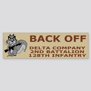 2-128th Infantry <BR>D Co. Bumpersticker 2