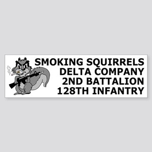 2-128th Infantry <BR>D Co. Bumpersticker 1