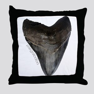 Megalodon Tooth Throw Pillow