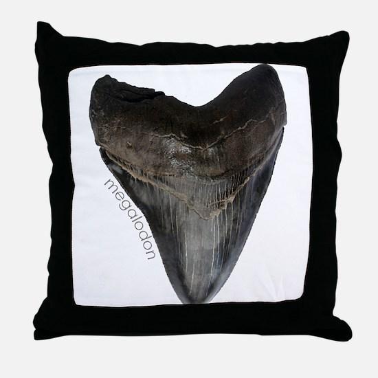 Megalodon Tooth Throw Pillow
