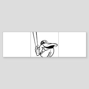 Ball Player Bumper Sticker