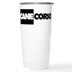 Cane Corso B&W Stainless Steel Travel Mug
