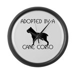 Adopted by a Cane Corso Large Wall Clock