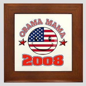 Obama Mama 2008 Framed Tile