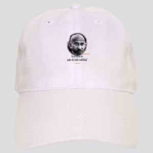 "Ghandi""an eye for an eye"" Cap"