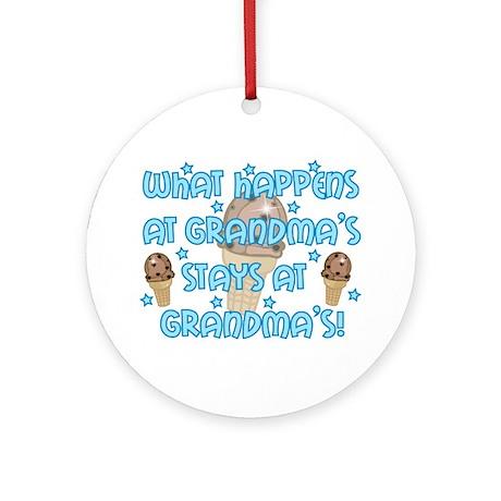 What happens at Grandma's Ornament (Round)