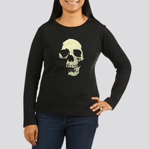 Vintage Skull #1 Women's Long Sleeve Dark T-Shirt