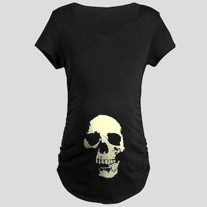Vintage Skull #1 Maternity Dark T-Shirt