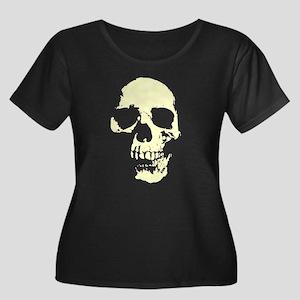 Vintage Skull #1 Women's Plus Size Scoop Neck Dark