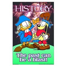 Garfield History Large Poster