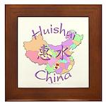 Huishui China Map Framed Tile