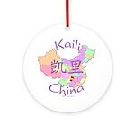 Kaili China Map Ornament (Round)