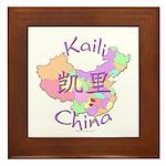 Kaili China Map Framed Tile