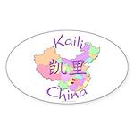 Kaili China Map Oval Sticker (10 pk)