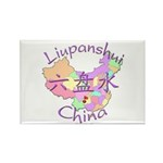 Liupanshui China Rectangle Magnet (10 pack)