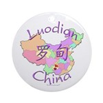 Luodian China Map Ornament (Round)