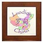 Luodian China Map Framed Tile