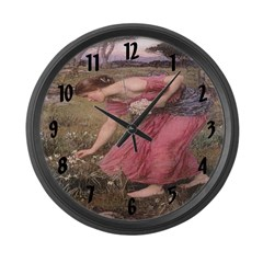 Narcissus Large Wall Clock