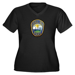Signal Hill Police Women's Plus Size V-Neck Dark T