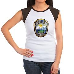 Signal Hill Police Women's Cap Sleeve T-Shirt
