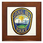 Signal Hill Police Framed Tile