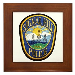 Signal Hill Police Framed Tile