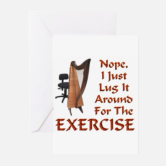 Harp for the Exercise Greeting Cards (Pk of 20)