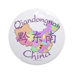 Qiandongnan China Ornament (Round)