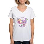 Qiandongnan China Women's V-Neck T-Shirt