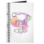 Qiannan China Map Journal