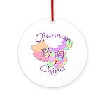 Qiannan China Map Ornament (Round)