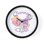 Qiannan China Map Wall Clock