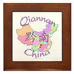 Qiannan China Map Framed Tile