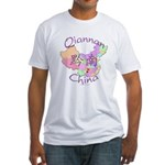 Qiannan China Map Fitted T-Shirt