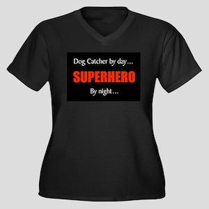 dog catcher Women's Plus Size V-Neck Dark T-Shirt