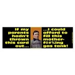 Afford to Fill Gas Tank Bumper Sticker