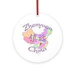 Zhenyuan China Map Ornament (Round)